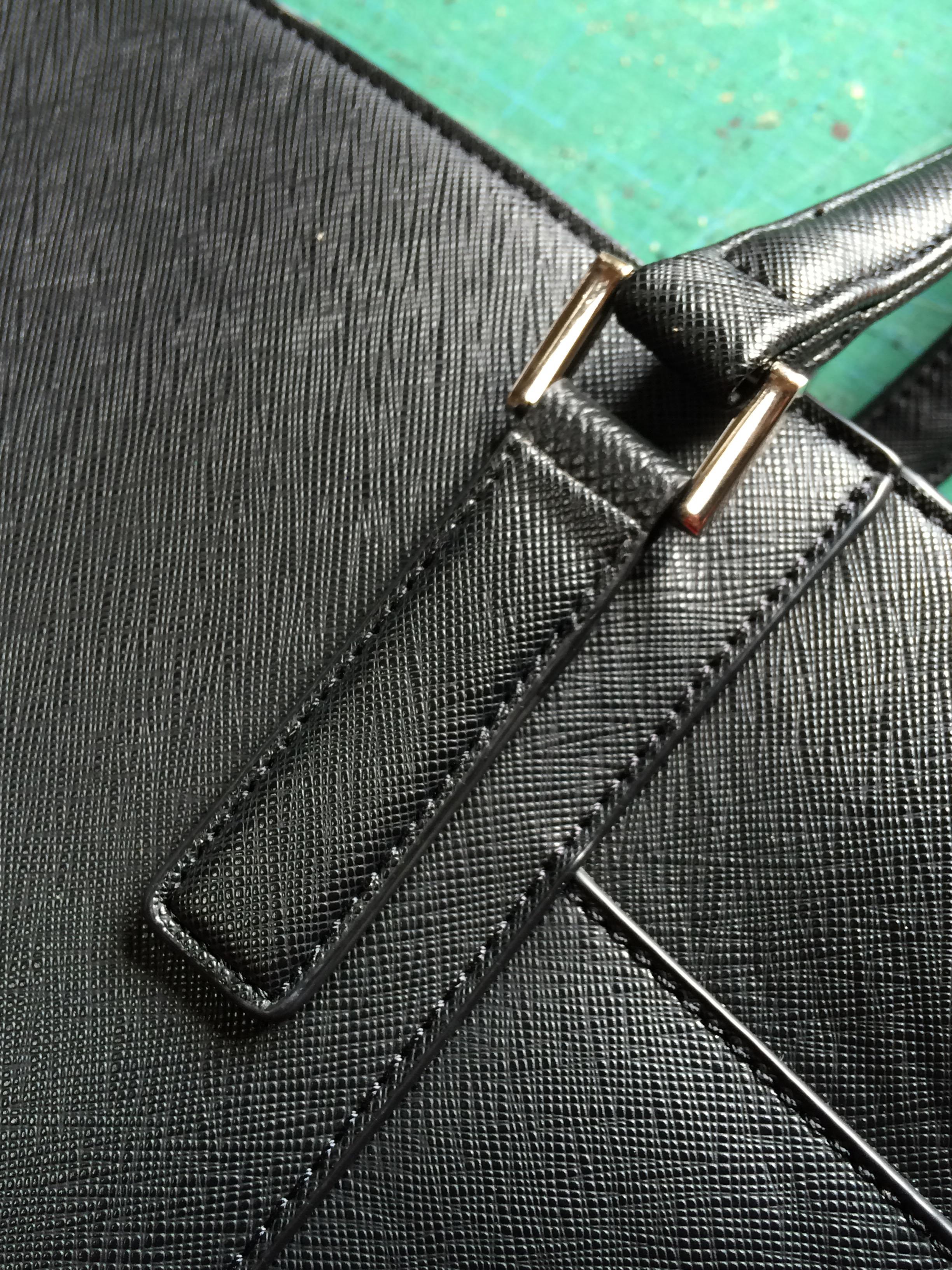 付け根革 鞄修理