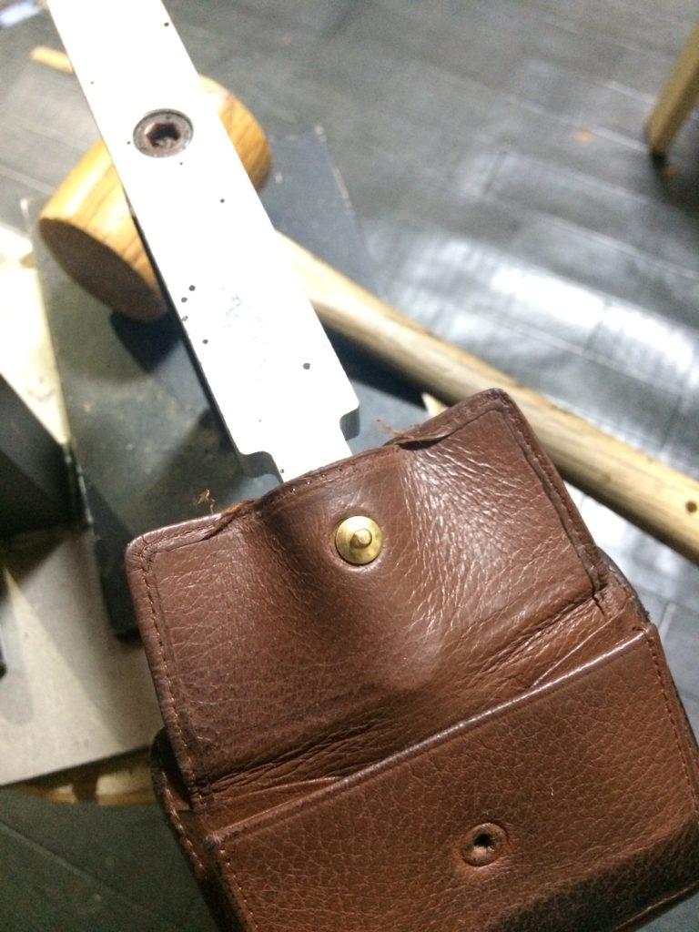 財布 ホック 修理